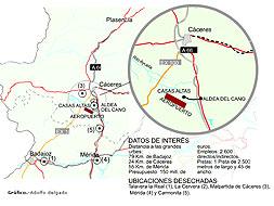 Ubicación del Aeropuerto Internacional de Extremadura
