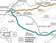 Alternativas a la futura autovía A-43(Extremadura-Levante)
